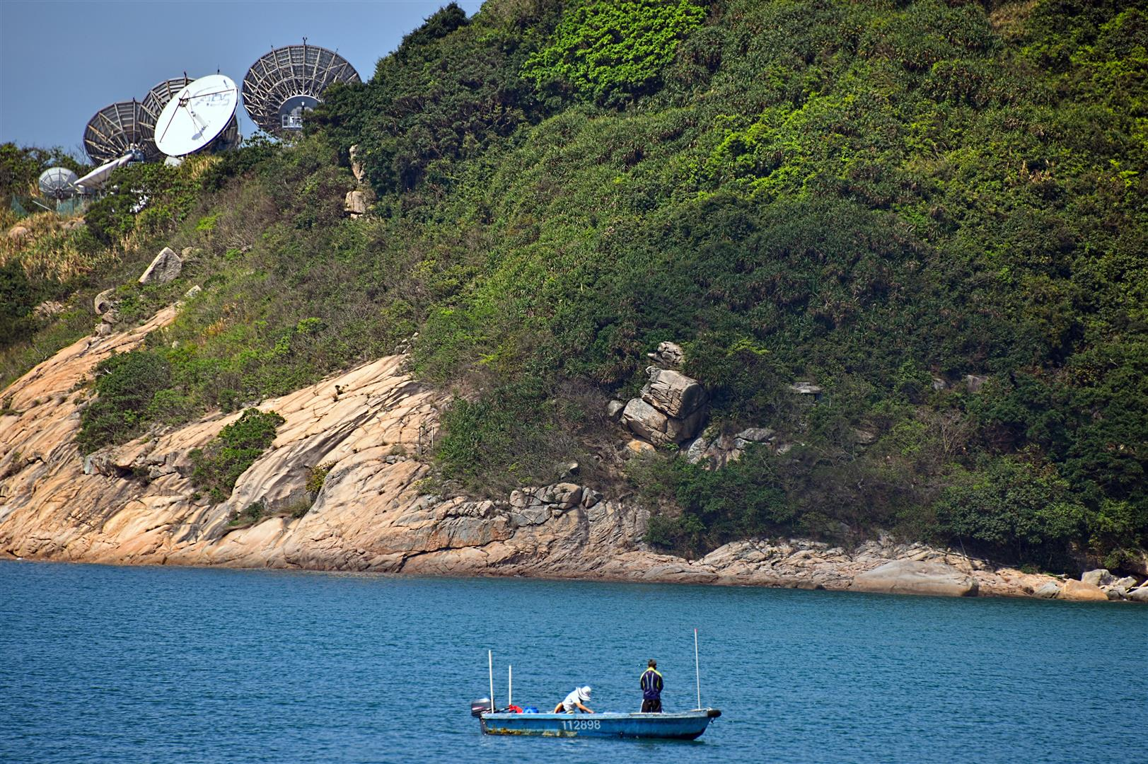 Hong Kong - Stanley - Boat and Radar (Large) - Copy